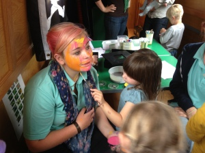 The kids love face painting the staff!